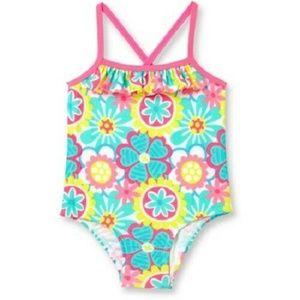Ocean Pacific OP Baby Girl Zookeeper Swimsuit